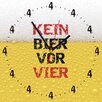 Contento Kein Bier Vor Vier Analogue Wall Clock
