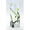 Diamond Star Glass Vase with Artistic Tree