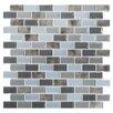 "Kellani Tides 0.75"" x 1.63"" Glass Mosaic Tile in Oyster"