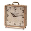 Melrose International Suitcase Table Clock