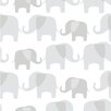 NuWallpaper Elephant Parade 5.5m L x 52cm W Animals Roll Wallpaper