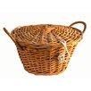 Artesania San Jose Round Willow Basket with Cover