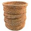 Artesania San Jose Round Esparto Grass Wastebasket