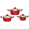 Karl Kruger Valencia 3-Piece Cookware Set with Lid