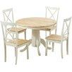 Küstenhaus Essgruppe Bartett mit 4 Stühlen