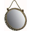 Hazelwood Home Round Hanging Wall Mirror