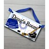 Toad and Lily Hockey Personalized Bedroom Door Sign