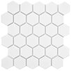 "EliteTile Retro Hexagon 2"" x 2"" HePorcelain Mosaic Tile in White"