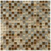 """EliteTile Sierra 0.625"""" x 0.625"""" Glass and Natural Stone Mosaic Tile in Brixton"""