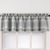 No. 918 Millennial Dawson Plaid Rod Pocket Kitchen Curtain Valance
