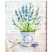 Oliver Gal 'Lavender' Art Print Wrapped on Canvas