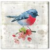 Oliver Gal 'Pink Bird' Art Print Wrapped on Canvas
