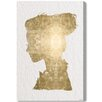 Oliver Gal 'Beaute In Gold' by Art Remedy Graphic Art Wrapped on Canvas