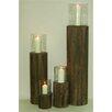 Noor Living 4 Piece Wooden Lantern Set