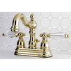 Kingston Brass Wilshire Standard Centerset Bathroom Faucet with Drain Assembly