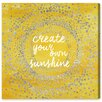 Oliver Gal 'Your Own Sunshine' by Art Remedy Typography Wrapped on Canvas