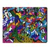 Oliver Gal 'Cacophony' by Manuel Roman Graphic Art Wrapped on Canvas