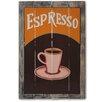 Castleton Home Espresso Vintage Advertisement Plaque