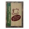 Castleton Home Premium CoffeeVintage Advertisement Plaque