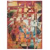 Nourison Celestial Red/Yellow Area Rug