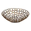 "10"" Coppered Link Fruit Basket (Set of 2)"