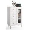 dCor design Gandino Display 1 Door 5 Drawer Cabinet