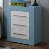 dCor design Lama 3 Drawer Bedside Table