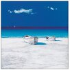 Castleton Home 'Barche Nel Blu' by Mondelli Art Print
