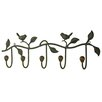 Castleton Home Bird and Leaves Wall Hook