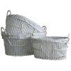 Castleton Home Heart Wicker Laundry Set