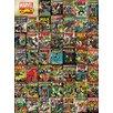Art Group Marvel Avengers Covers Vintage Advertisement Canvas Wall Art