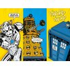 Art Group Doctor Who - Comic Sections Vintage Advertisement Canvas Wall Art