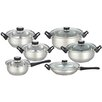 Euro-Ware 12 Piece Stainless Steel Cookware Set