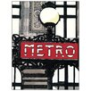 Castleton Home 'Metro In Paris' by Fairbrother Graphic Art