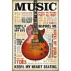 NEXT! BY REINDERS Music is Passion Graphic Art Plaque