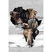 NEXT! BY REINDERS Die Big Five Graphic Print Decorative Plaque
