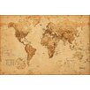 NEXT! BY REINDERS Antique World Map Graphic Art Plaque