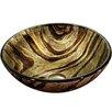 VIGO Zebra Glass Circular Vessel Bathroom Sink