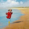 DEInternationalGraphics Girl on the Beach by Jan Groenhart Painting Print