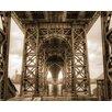 """DEInternationalGraphics Fotodruck """"Under the Bridge"""" von Aurélien Terrible"""