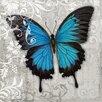 """DEInternationalGraphics Kunstdruck """"Blue Butterfly II"""" von Alan Hopfensperger"""
