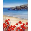 DEInternationalGraphics Poppies by the Sea by Hilary Mayes Painting Set
