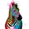 DEInternationalGraphics Zebra Pop by Patrice Murciano Painting Print