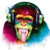 DEInternationalGraphics DJ Monkey by Patrice Murciano Painting Print