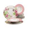 Creatable Amelia Rose 12 Piece Dinnerware Set, Service for 6