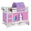 Lilokids Etagenbett  Disney's Frozen mit Vorhang und 2 Lattenrosten
