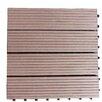 """Century Outdoor Living Composite 12"""" x 12"""" Interlocking Deck Tiles in Walnut Brown"""