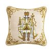 Peking Handicraft Nutcracker Wool Throw Pillow