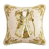 Peking Handicraft Santa Wool Throw Pillow