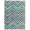 House Additions Troyes Hand-Woven Blue Area Rug